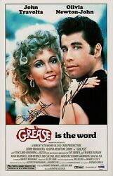 247189 Grease Is The Word Signed Movie Art Print Poster Wall Ca