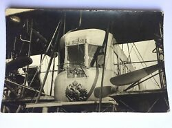Antique Imperial Russian Postcard - Airplane