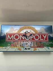 Vtg Monopoly Deluxe Edition 1998 Gold Tokens Wood Houses And Hotels Complete