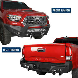Off-road Front Or Rear Bumper W/6 Led Lights Hoop For Toyota Tacoma 16-21 Steel