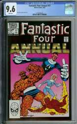 Fantastic Four Annual 17 Cgc 9.6 White Pages // John Byrne Cover Art + Story