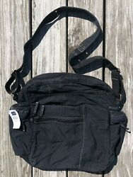 GAP NEW black cotton crossbody messenger bag from 2002 with tags $20.00