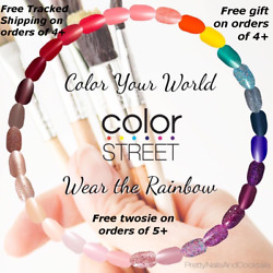 Color Street Nail Strips Retired And New Free Tracked Ship On 4+ Sale