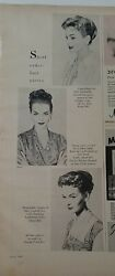1957 Miriam Haskell Pin Brooch Vintage Jewelry Hair Pieces Ad