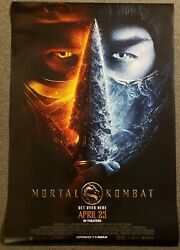 Mortal Kombat 2021 27x40 D/s Movie Theater Poster Corrected Date