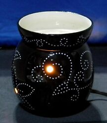 Scentsy Full Size Warmer Black With Raised White Dot Pattern