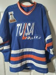 Tulsa Oilers 1994 Chl Hockey Jersey 1993 Bill Levins Patch Signed By 13 Players