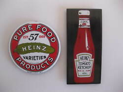 Heinz 57 And Ketchup Bottle Ande Rooney Refrigerator Magnets Lot Of 2