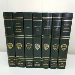 7 Collier Harvard Classics Deluxe Edition Books Hardcover Staging Home Decor