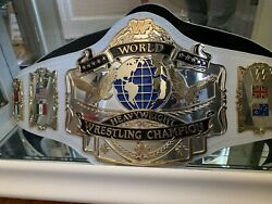 Wwf Andre 87 World Title Belt.figs Inc Plates, Adam Kelly Leather No Holds Bared