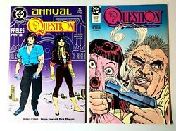 Dc The Question Comics Annual 1988 1 19 Lot Of 2 Boarded And Bagged