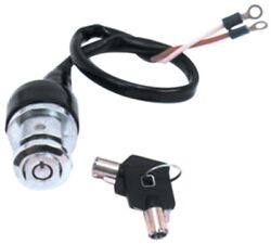 Harley Ignition Switch Round Key Style 2-position Dyna Sportster And Fxr 2 Wire
