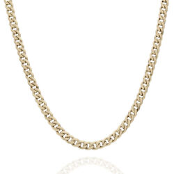 3.4mm Curb Link Chain Necklace In 14k Yellow Gold 20.5