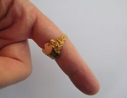 Lovely Circa 1900 Art Nouveau 10k Gold Nude Mermaids Sirens Arms Coat Ring 🧜
