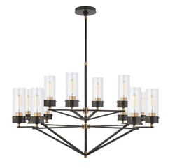 Visual Comfort And Co.   Large Chandelier In Bronze And Rubbed Antique Brass