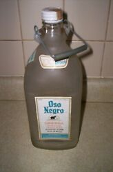 Oso Negro Vodka Bottle 12and039and039 Art Deco Vintage Mexico With Lid Labels Wire