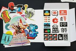 Space Invader Signed Sticker Sheet W Stuck Up Stickers Vol 2 Deluxe Set Le X/400