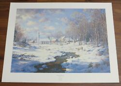 Frosty Morning By Larry Dyke 1992 Signed Limited Edition Print 124 Of 1000 W/coa