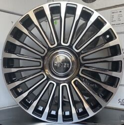 22'' Wheels Black Machine With Tires Fit Land Rover Range Rover Floating Caps