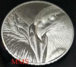 10oz Majestic Eagle Silver Round Ultra High Relief .999 Limited Mintage Usa