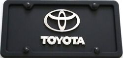 Toyota 3d Black Stainless Steel License Plate + Protective Lens ,frame And Screws