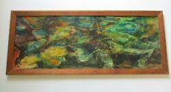 Bomeisler Oil Painting Modernism Abstract Large 1950and039s Mid Century Listed