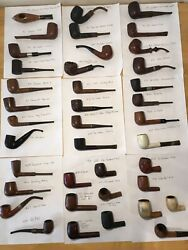 39 Vintage Tobacco Pipes. Please See Pictures For Exact Pipes.