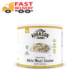 16 Oz Augason Farms Freeze-dried White Meat Chicken 100 Real Precooked Chic...
