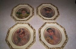 Vintage Strevens Victorian Ladies Prints Pictures Wall Hanging Set Of 4