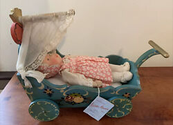 Antique Käthe Kruse Baby With Carriage Mwt