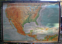 Schulwandkarte Wall Map Mexico Map Usa United States 93 11/16x65 3/8in