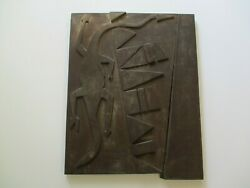 Large Metal Sculpture Mystery Architectural Modernism Tribal Abstract Vintage