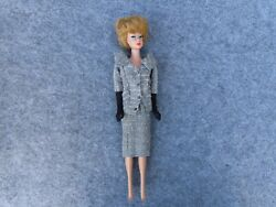 Vintage Mattel 1960's Barbie Fashion Doll With Bubble Hair And Career Girl Outfit