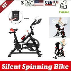 Stationary Bikes For Home Gym Exercise Fitness W/ Lcd And Comfortable Seat Cushion