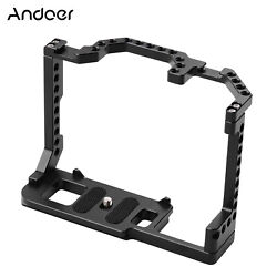 Andoer Camera Cage Aluminum Alloy With Dual Cold Shoe Mount 1/4 Inch Screw A4q4
