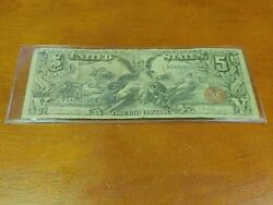 1896 5 Five Dollar Educational Silver Certificate Note Fr268 Rare
