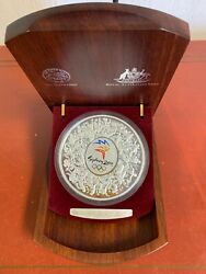 2000 Sydney Australia Olympic 30 Silver Kilo Coin Proof With Box 11452