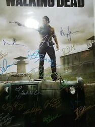 The Walking Dead Signed Poster 24 X 36 2012 Comic Con Norman Reedus. Museum Qual