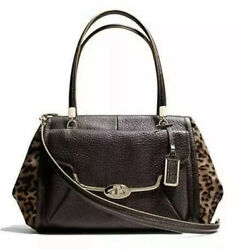 Nwt Coach 25255 Madison Madeline Mixed Haircalf Leather East West Satchel 1000