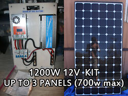 Complete Fully Off Grid Solar Kit 1200w Inverter 420w Solar 60a Mppt Controller