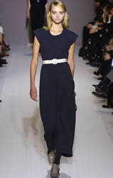 Marni Rare And Stunning Black Long Elegant Sexy Dress Key Runway Sold Out Piece