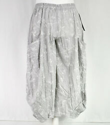 Grey And White Balloon Trousers By German Designer Champagne Size L/xl