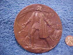 Worldand039s Columbian Exposition Commemorative Presentation Medal Saint Gaudens Ted5