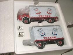 First Gear 19-2278 Texaco Motor Oil 1953 White 3000 Trk And 16and039 Pup Trailer Mib