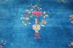 C1920s Antique Art Deco Walter Nichols Chinese Rug 5and03910 X 8and0399 Pomegranate De