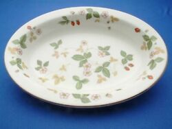 Wild Strawberry Fine China By Wedgewood Oval Vegetable Bowl, Gently Used