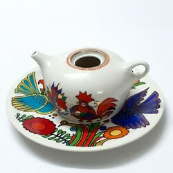 Vintage Plate Villeroy Boch Acapulco 1960s Luxembourg/teapot Small Ussr Handmade