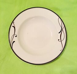 Mikasa Cocoa Blossom Large Rimmed Soup Bowl Bowl 9 Inch. New