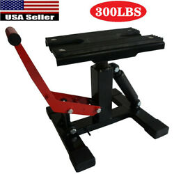 300lb/136.08kg Adjustable Lift Jack Lift Stand Repairing Table For Motorcycle Us