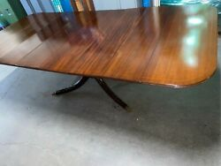 Pristine Antique Duncan Fife Single Pedestal Dining Table With Clawed Feet With